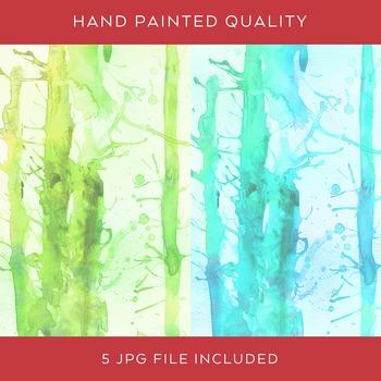 Hand-painted Watercolor Digital Paper