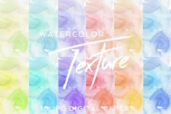 Hand-painted Watercolor Vivid Digital Paper
