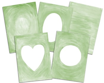 Hand painted gouache frames, backgrounds, Christmas, Xmas, Holiday