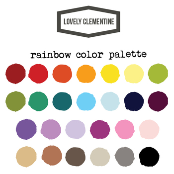 Hand prints with heart - rainbow clipart  - Lovely Clementine