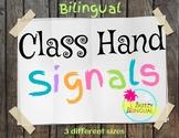 Hand signal/ Señales de mano