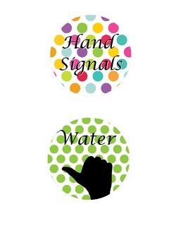 Hand signals display