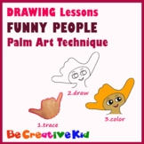 Art Lessons. Hand tracing drawing. People