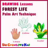 Art Lessons. Hand tracing drawing. Trees