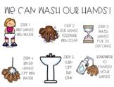 Hand washing visuals bathroom posters procedure slideshow directions hygiene