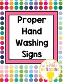 Hand-washing Procedures Signs