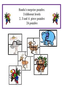 Handa's surprise color puzzles