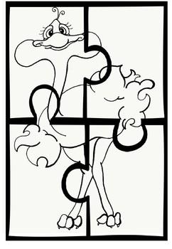 Handa's surprise puzzles. 3 different levels 2, 3 and 4  piece puzzles 24 puzzle