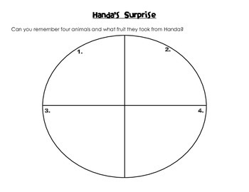 Handa's Surprise Story Sequence Activities (Differentiated)