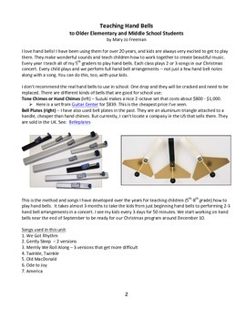 Handbell Unit - Learn to Play Hand bells / Tone chimes