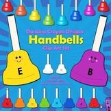 Handbells Clip Art - Colored Bells
