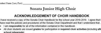 Handbook Acknowledgment Form Editable