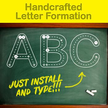Handcrafted Letter Formation Font for kids
