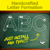 Handcrafted Letter Formation Font for kids
