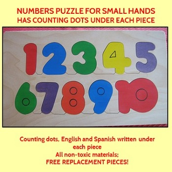 Handcrafted Wooden Numbers 1-10 puzzle