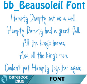 Beausoleil Font, Handdrawn Casual Display Open Type Font OTF