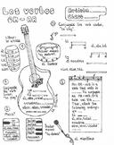 Spanish regular AR-verb conjugation no prep fun worksheet musically themed