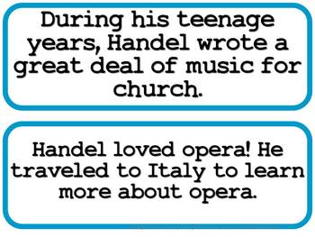 Handel Composer of the Month (August) Bulletin Board