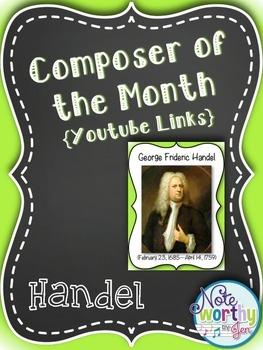 Handel Composer of the Month Bulletin Board Set {Youtube Links}