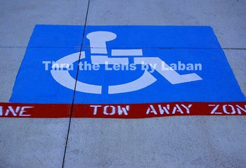 Handicap Space in Parking Lot Stock Photo #170