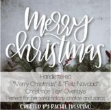 Handlettered Christmas Overlays