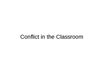 Handling Conflict:  Staff and Students