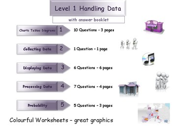 Handling Data Workbook - Worksheet Booklet - Level 1 (with answers)