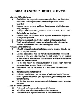 Handling a Child with Difficult Behavior