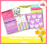 Handmade Mother's Day Card Booklet For Mom and Grandma