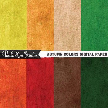 Digital Paper - Autumn Textures