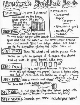 Handmade Sketchbook: How-to Handout