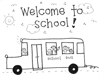 """Handmade """"Welcome to School"""" with Bus"""