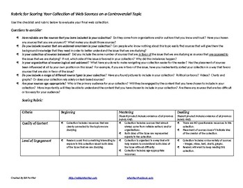Handout - Building Balanced Link Collections on Controversial Topics