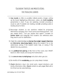 Handout- Classroom strategies and modifications for strugg