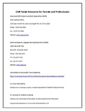 Handout - Cleft Palate Resources for Parents and Professionals