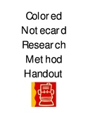 Handout -- Colored Notecard Research Method
