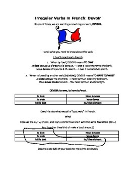 Handout: Devoir (to have to, to owe) in the Present and Passé Composé