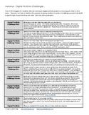 Handout - Digital Portfolio Challenges