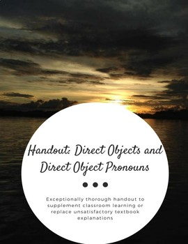 Handout: Direct Objects and Direct Object Pronouns (Spanish)