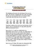 Handout:  Evaluating Intervals