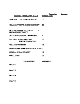 Handout Forms for Student Pacing
