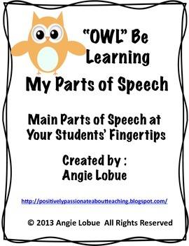 Grammar (Parts of Speech) Handout/ Resource