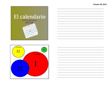 Handout- Spanish Calendar guided notes