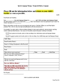 Handout: Speech Welcome Letter to Parents & At-Home Strate