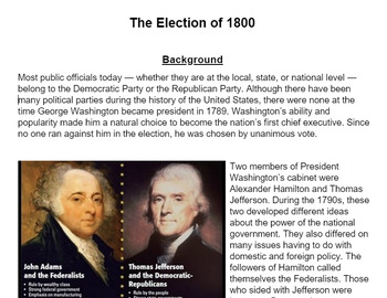 Handout: The Election of 1800