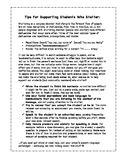 Handout - Tips for Supporting Students Who Stutter