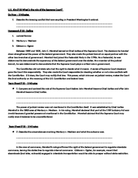 Handout for U.S. Aim # 33 What is the role of the Supreme Court?