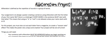 Handouts:  Alliteration Project