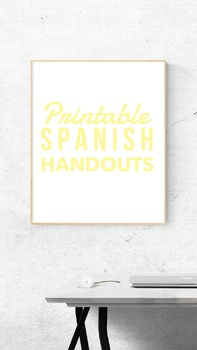 Handouts for Beginning Students of Spanish