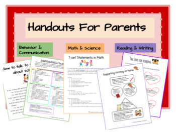 Handouts for parents